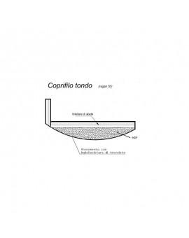 COPRIFILO MOSTRINA BOMBATA TANGANICA CON ALETTA DIMENSIONE: 720×2250 MM SP 16 MM